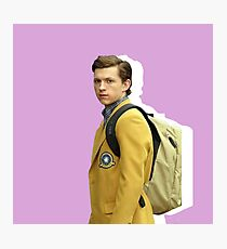 Peter Parker - Pink Backpack Photographic Print