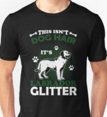 Camiseta ajustada This Is not Dog Hair It's Labrador Glitter Camiseta