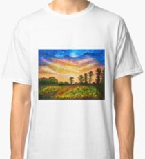 Late summer sunset sky in New England Classic T-Shirt