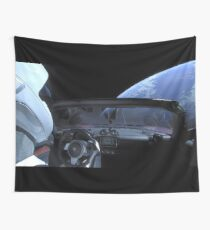 SpaceX Starman - DON'T PANIC! Wall Tapestry