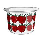 Strawberry Jam Pot - Arabia Pomona by Yaus
