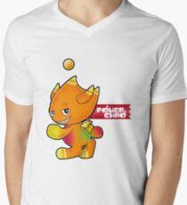 SEGA Sonic the Hedgehog Chao Normal Power Type Sonic Adventure 2 Battle Men's V-Neck T-Shirt