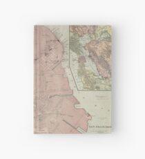 Vintage Map of San Francisco CA (1906) Hardcover Journal
