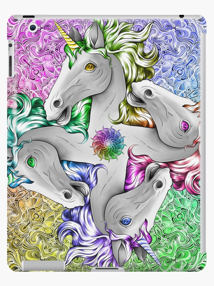 Rainbow Unicorn Quadricorn Perfect Birthday Gift Yoga Party Girl Girls Gay Pride By DooodleGod