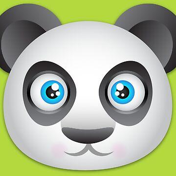 Panda Bear head by FaithApparrel
