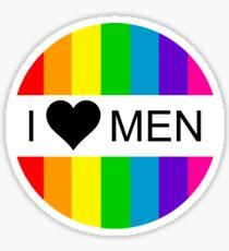 i heart men Sticker