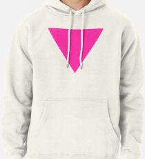 pink triangle Pullover Hoodie