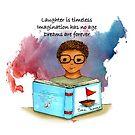 Day Dreaming-Boy reading by cardwellandink
