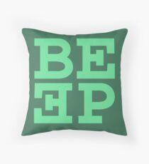 Beep (hanger logo) Throw Pillow
