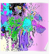 Flower Spring Floral Abstract Poster