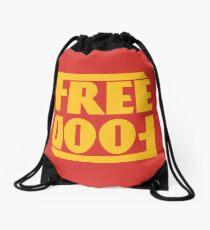 Free Food (hanger logo) Drawstring Bag