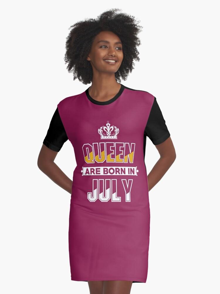 Vestidos camiseta «Regalos de cumpleaños de julio para damas ...