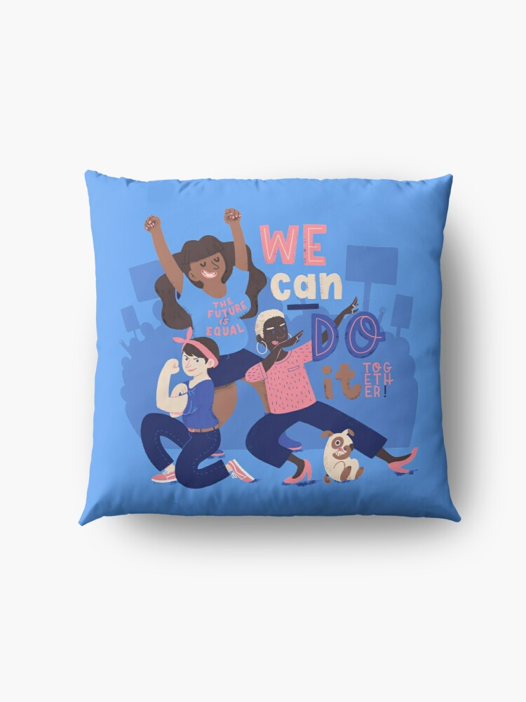Alternate view of We Can Do It (Together) Floor Pillow