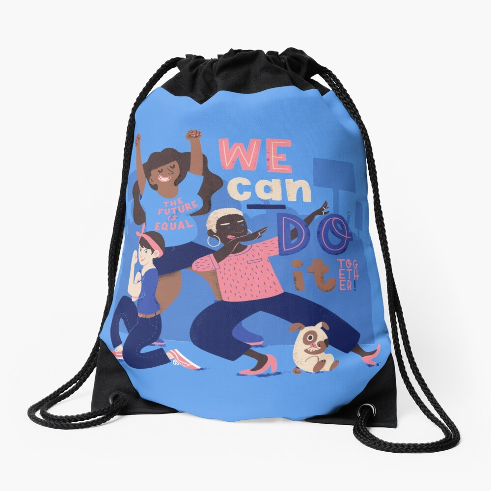 We Can Do It (Together) Drawstring Bag
