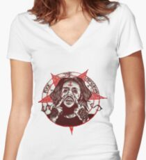 Suicideboys Exclusive Art FTP Women's Fitted V-Neck T-Shirt