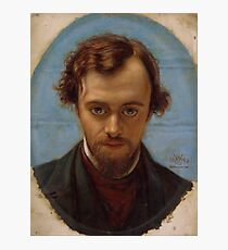 Portrait of Dante Gabriel Rossetti at 22 years of Age by William Holman Hunt Photographic Print