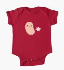 Baked beans farting Short Sleeve Baby One-Piece