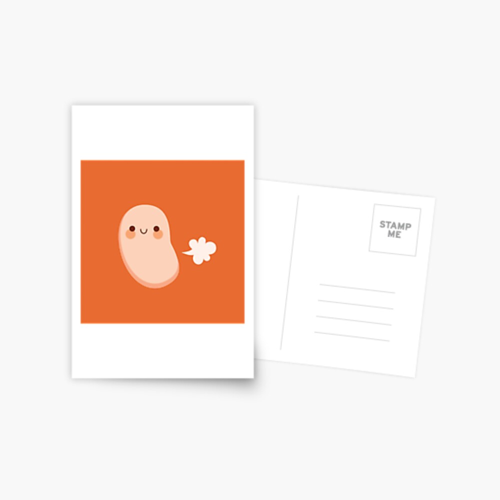 Baked beans farting Postcard