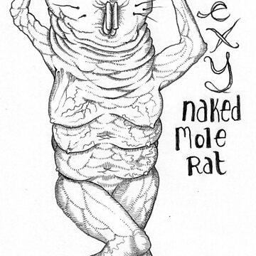 Sexy Naked Mole Rat by MackVanLobster