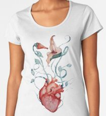 Pink Floyd Flowers | Watercolor painting | Rock fan art Women's Premium T-Shirt