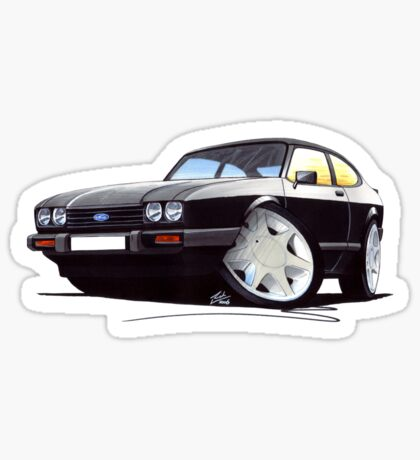 Ford Capri (Mk3) Black Sticker