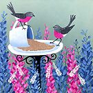 Rose Robins In My Garden by Lisafrancesjudd