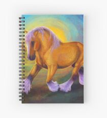 Epona Draft Horse Digital Painting Spiral Notebook