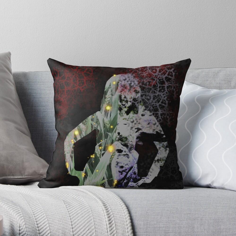 Hel, norse goddess of the underworld Throw Pillow