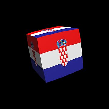 Croatian flag cubed by stuwdamdorp