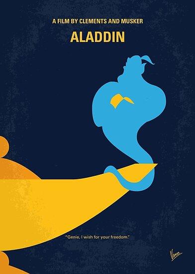 No920 Mein Aladdin minimales Filmplakat von ChungKong Art