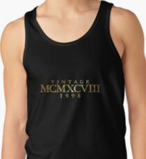 Vintage MCMXCVIII 1998 Birthday & Anniversary (Ancient Gold) Men's Tank Top
