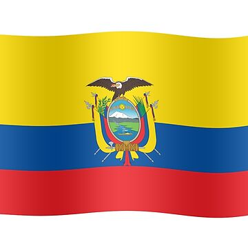 Ecuador flag waving by stuwdamdorp