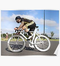 Fixie cyclist Poster