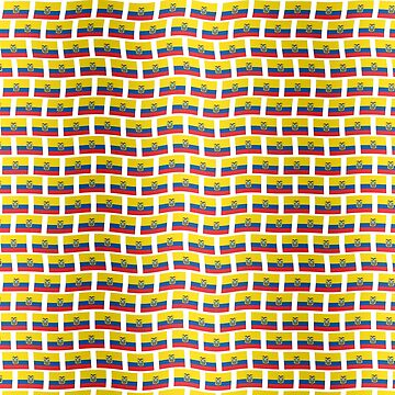 Ecuador flag tiled pattern by stuwdamdorp