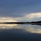 Reflections at Swanwick Bay Tasmania by Merrilyn Serong