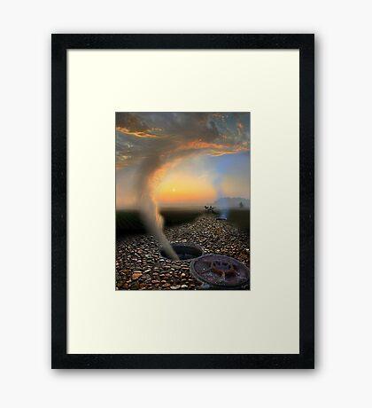 Cloudy Escape Framed Print