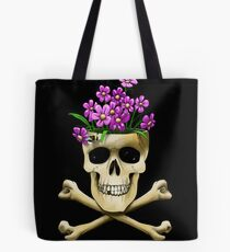 Skull vase .....with bee Tote Bag