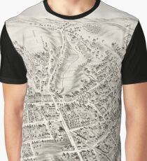 Vintage Pictorial Map of Marlborough MA (1878) Graphic T-Shirt