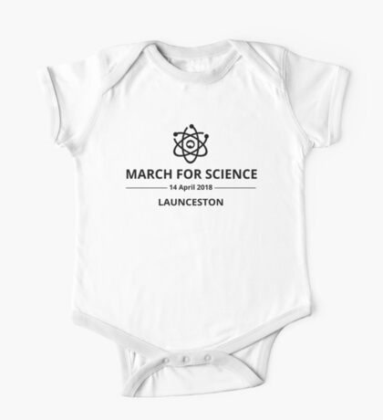 March for Science Launceston logo – black  Kids Clothes