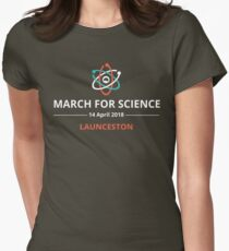 March for Science Launceston logo – light  Women's Fitted T-Shirt