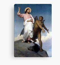 Lienzo Vintage Ary Scheffer - La tentación de Cristo Bellas Artes de 1854