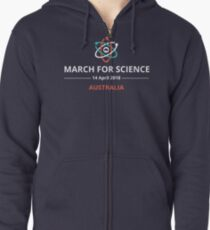 March for Science Australia logo - light Zipped Hoodie
