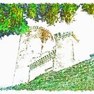 Glimpse Of The Castle Walls And Towers by Giuseppe Cocco