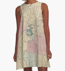 Vintage Map of Elizabeth New Jersey (1872) A-Line Dress