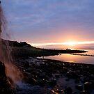 Waterfall Sunset by bubblebat