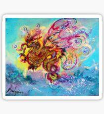 SEA DRAGON Pink Blue Fantasy Collection Sticker