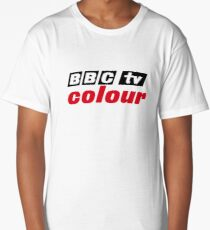 Retro BBC colour logo, as seen at Television Centre Long T-Shirt
