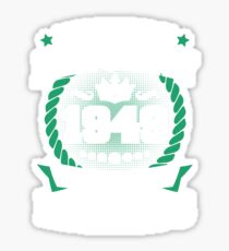 January 1949 The Birth Of Legends Sticker
