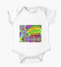 Life's Unfolding Adventure Story Short Sleeve Baby One-Piece