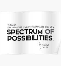 spectrum of possibilities - stephen hawking Poster